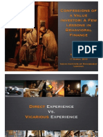 Confessions of a Value Investor- A Few Lessons in Behavioral Finance