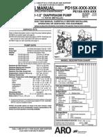 ARO PD15X PE15X 1 5 Inch Metallic Diaphragm Pump Manual (1)