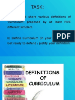 GROUP 2 Definition of Curriculum