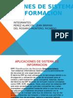 Aplicaciones de Sistemas de Informacion