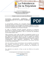Compte Rendu Du Conseil Des Ministres - Mercredi 28 Octobre 2015