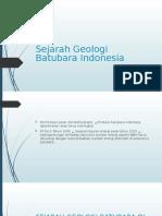 Sejarah Geologi Batubara Indonesia