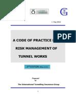 ITIG Codigo de Adminsitracion de Riesgos en Trabajos Tuneles
