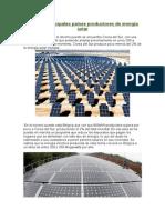 Los Diez Principales Países Productores de Energía Solar