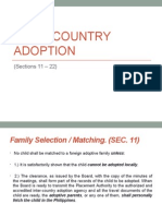 Inter-country Adoption (Sec. 11-22)