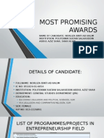 PEA Most Promising Awards