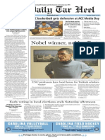 The Daily Tar Heel for Oct. 29, 2015