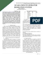 ANALYSIS OF MULTIPLE EVAPORATOR REFRIGERATION SYSTEM