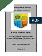 1. Plan - Licencias y Autorizaciones de Construccion - Incial - 2014 - Caratula