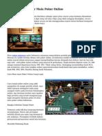 Tips dan Trik Dasar Main Poker Online