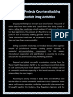 Current Projects Counterattacking Counterfeit Drug Activities