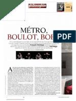 Metro Bolot Bobo Philosophie Magasine