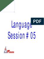 LDB Session 05 - Para Formations
