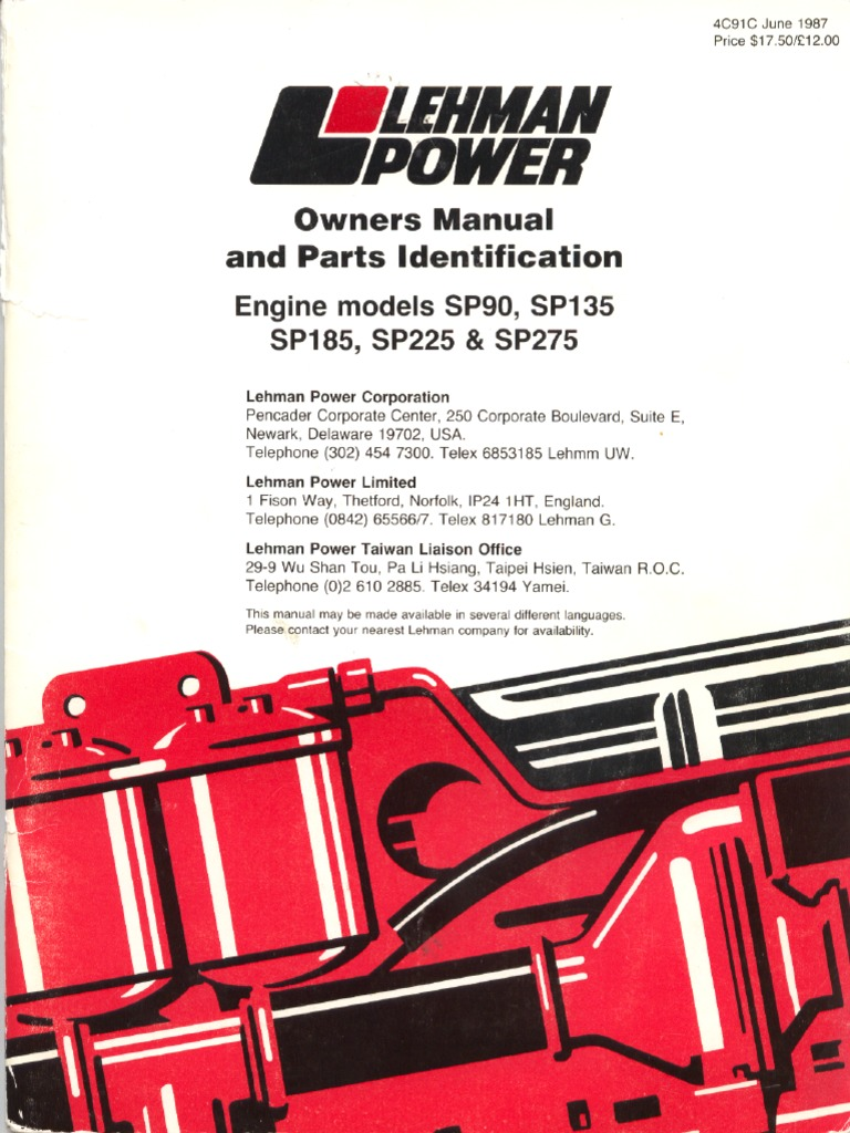 ford lehman 2722e engines oil