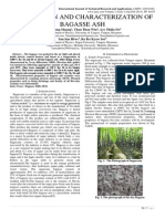 PREPARATION AND CHARACTERIZATION OF BAGASSE ASH