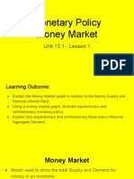 unit 12 1 - lesson 1 - money market