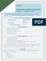 Fact Sheet Aarhus BSS 2016