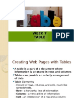 Creating Tables in HTML