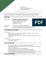 Resume Blog Version