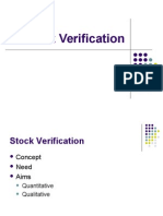 Stock Verification