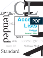 Access List Solution Access Lists Workbook Teachers Edition