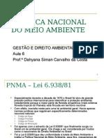 6 - Política Nacional do Meio Ambiente.ppt