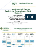U.S. Department of Energy Fuel Cycle Technologies R&D Outlook