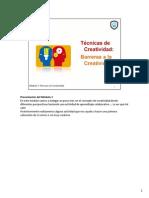 Tecnicas Creatividad_ Modulo 3 - Barreras a La Creatividad