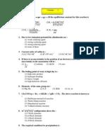 MAH CET Sample Paper-3 (Chemistry-paper)