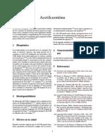 Nootrópico Acetilcarnitina o ALCAR