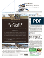 Asbury Park Press front page, October 29, 2015