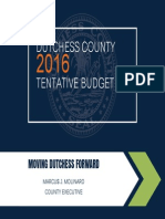 2016 Tentative Dutchess County Budget