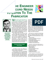 Why the Engineer of Record Needs to Listen to the Fabricator