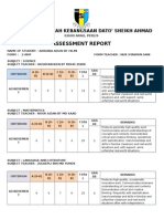Sample Assessment Reports