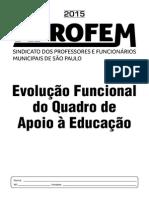 EVOLUÇÃO QUADRO DE APOIO A EDUCAÇÃO