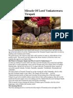 An Amazing Miracle of Lord Venkateswara of Tirumala Tirupati