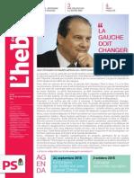 """L'Hebdo des socialistes n°791 """"La gauche doit changer"""""""