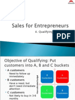 Sales for Entrepreneur- Generating Leads and Qualifying