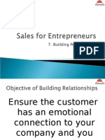 Sales for Entrepreneur- Building Relationships
