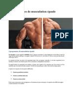 4 Programmes de Musculation Épaule