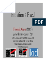 Cours Init Excel