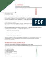Procedures as Per ISO 9001
