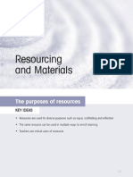 Resourcing and materials