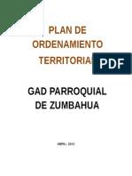 Plan de Ordenamiento Territorial ZUMBAHUA