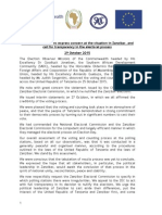 International Observer Missions Joint Statement on Zanzibar Elections