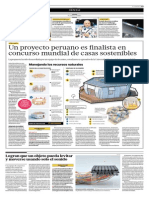 Un Proyecto Peruano Es Finalista en Concurso Mundial de Casas Sostenibles