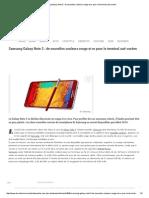 Samsung Galaxy Note 3 _ de Nouvelles Couleurs Rouge Et or Pour Le Terminal Sud-coréen