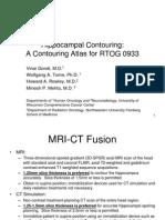 contorneo de hipocamo en radioterapia