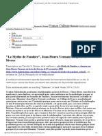 _Le Mythe de Pandore_, Jean-Pierre Vernant Au Lycée de Sèvres - Fabrique de Sens
