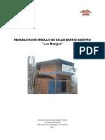 Memoria Descriptiva. Proyecto Rehabilitacion Modulo de Barrio Adentro Los Mangos